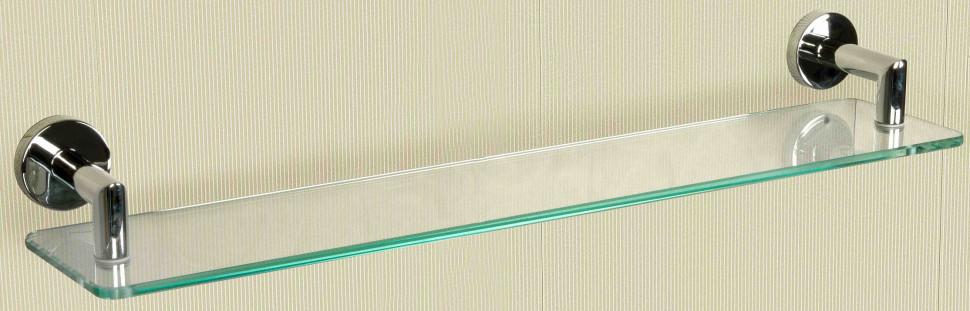 Полка стеклянная 50 см хром Nofer Line 16515.B полка стеклянная 50 см хром nofer line 16515 b