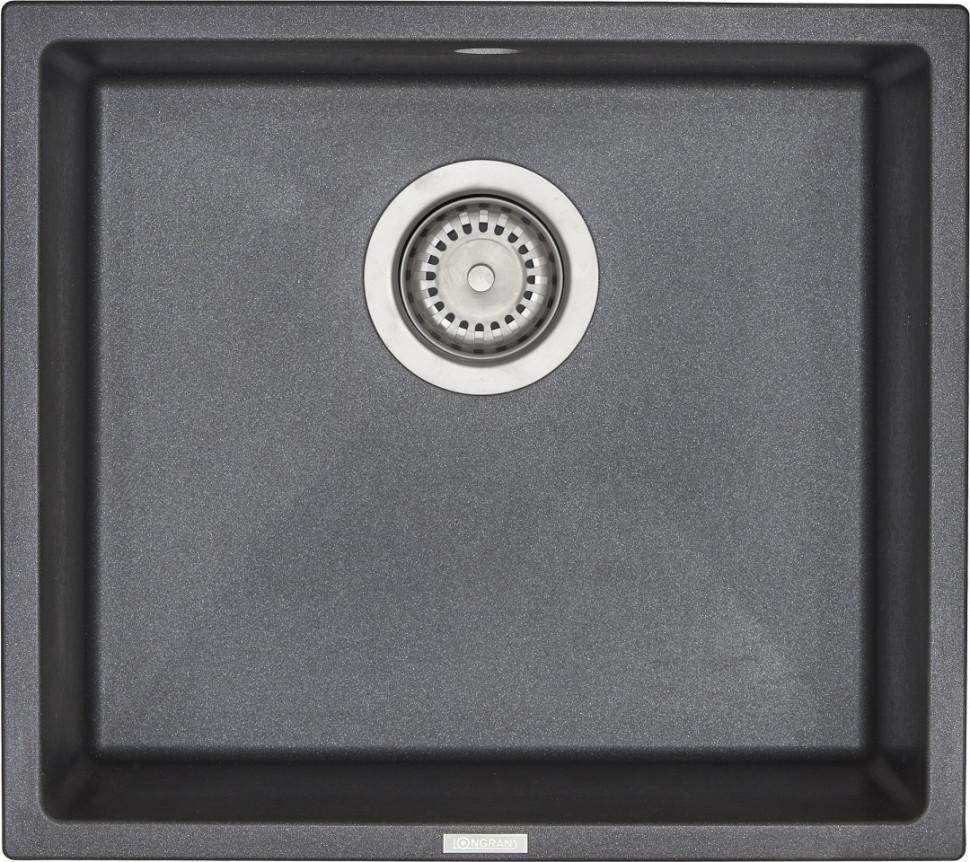 Кухонная мойка оникс Longran Geos GES457.406 - 10 мойка longran ultra uls615 500 15 10 оникс