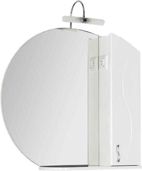 Зеркальный шкаф 88х84,9 см белый Aquanet Моника 00186775