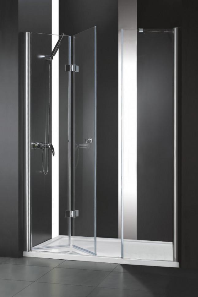 Душевая дверь складная Cezares Elena 160 см прозрачное стекло ELENA-W-BS-13-60+50/50-C-Cr фото