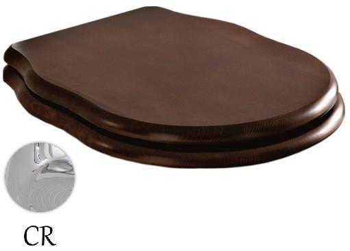 Сиденье для унитаза с микролифтом орех/хром Artceram Hermitage HEA004 71 noce/cr сиденье для унитаза с микролифтом орех бронза artceram hermitage hea004 72 noce br