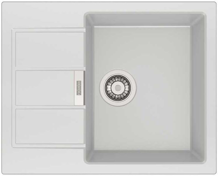 Фото - Кухонная мойка Tectonite Franke Sirius SID 611-62/44 полярный белый 114.0489.208 врезная кухонная мойка 56 см franke sid 610 полярный белый