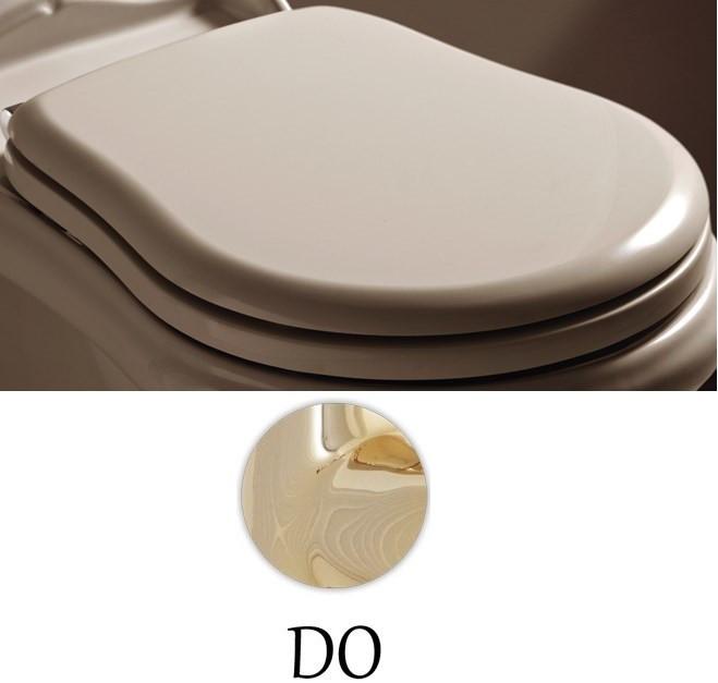 Сиденье для унитаза с микролифтом белый/золото Kerasan Retro 108701bi/oro.