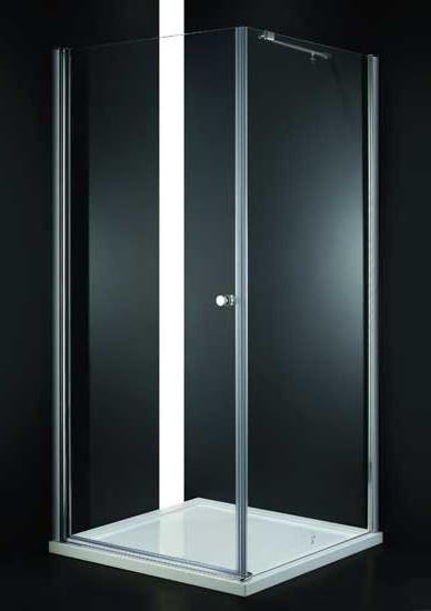 Душевой уголок 100х100 см Cezares ELENA-W-A-1-100-P-Cr-L текстурное стекло дверное полотно cezares elena w 70 p cr l левая профиль хром стекло рифленое punto