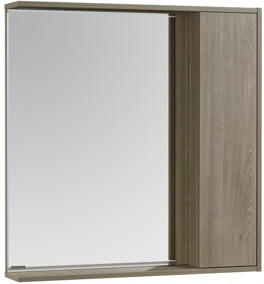 Зеркальный шкаф 80х83,3 см сосна арлингтон R Акватон Стоун 1A228302SX850 зеркальный шкаф акватон стамбул 85 1a128402st590 сосна лоредо