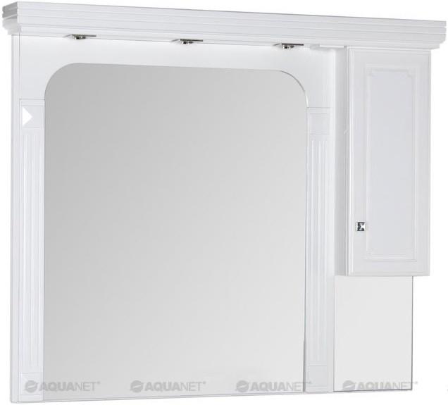 Зеркальный шкаф 146х130 см белый Aquanet Фредерика 00171012 зеркало aquanet фредерика 171273