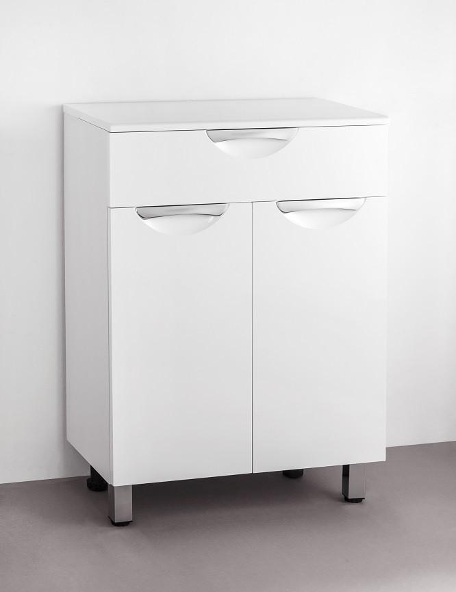 Тумба белый глянец 60 см Style Line Жасмин LC-00000335 цена и фото