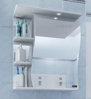 Зеркальный шкаф 50х72 см белый глянец Санта Волна 101008 подушка primavelle 50х72 см evcalina