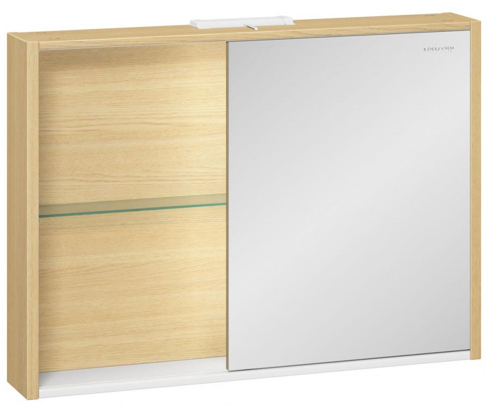 зеркальный шкаф edelform уника 100 белый с дуб гальяно 2 741 45 s Зеркальный шкаф дуб гальяно 94,6х69,6 см Edelform Unica 2-741-45-S