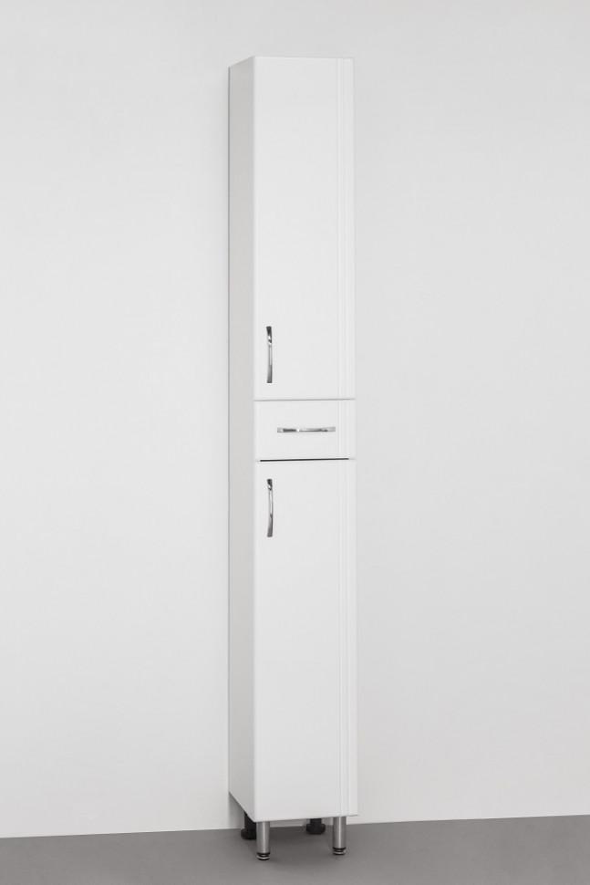 Пенал напольный белый глянец Style Line Эко Стандарт LC-00000111 шкаф пенал style line эко стандарт 36 с бельевой корзиной белый глянец