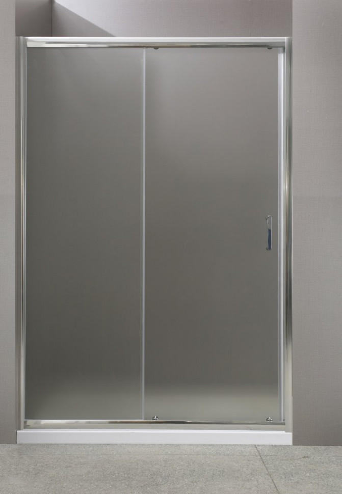 Душевая дверь раздвижная BelBagno Uno 130 см текстурное стекло UNO-BF-1-130-P-Cr
