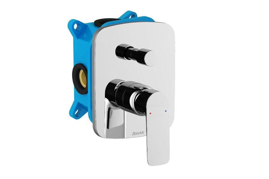 Встраиваемый смеситель для ванны с переключателем для R-box Ravak Classic CL 065.00