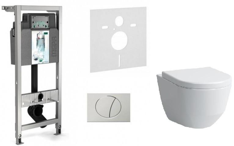 Комплект подвесной унитаз Laufen Pro New 8209660000001 + 8969513000001 + система инсталляции Mepa 514306 унитаз laufen 2595 2 000 000 1 pro new