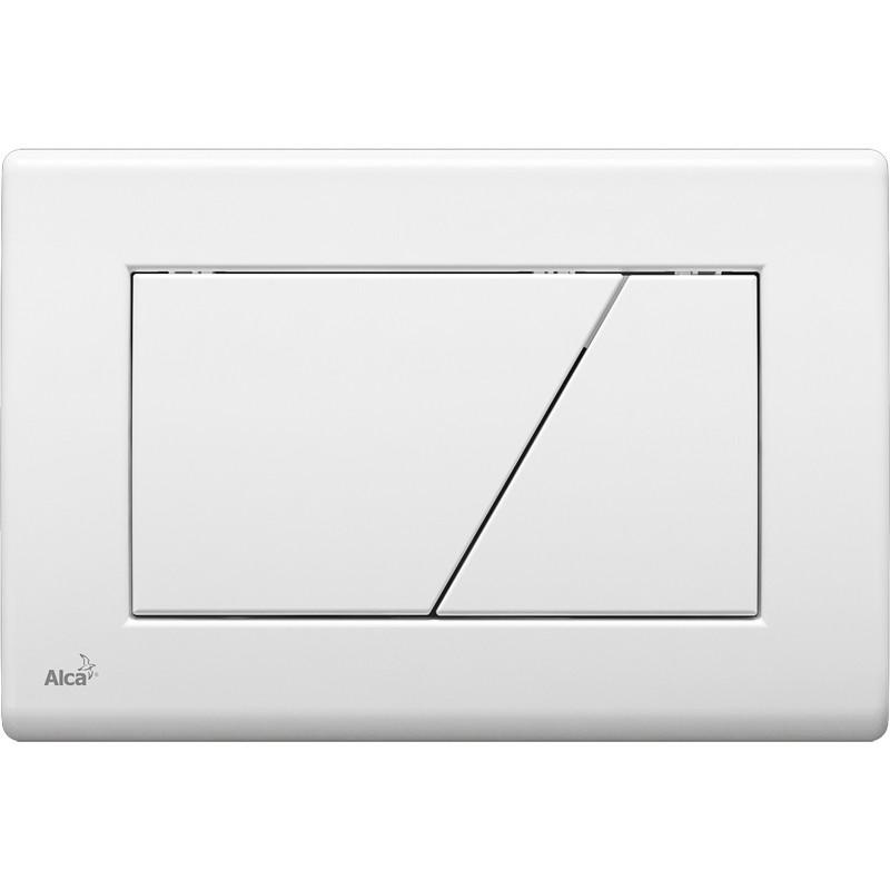 Смывная клавиша белый для двойного смыва AlcaPlast M170