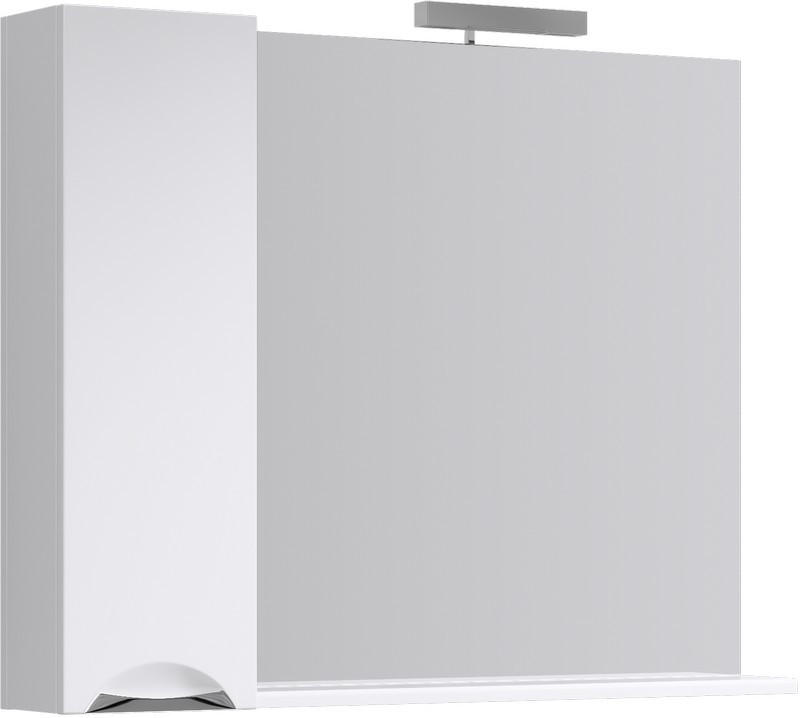 Зеркальный шкаф 105х82 см с подсветкой Aqwella Line Li.02.10 зеркальный шкаф vigo mirella 80 с подсветкой белый