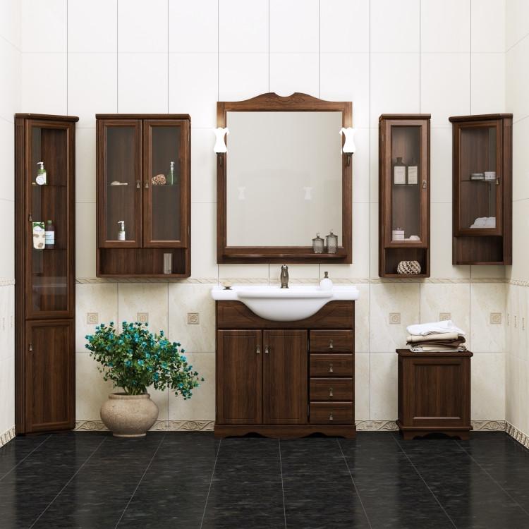 Фото - Комплект мебели орех антикварный 87 см Opadiris Клио KLIO80KOMP46 комплект мебели орех антикварный 56 см opadiris клио karla75komp46