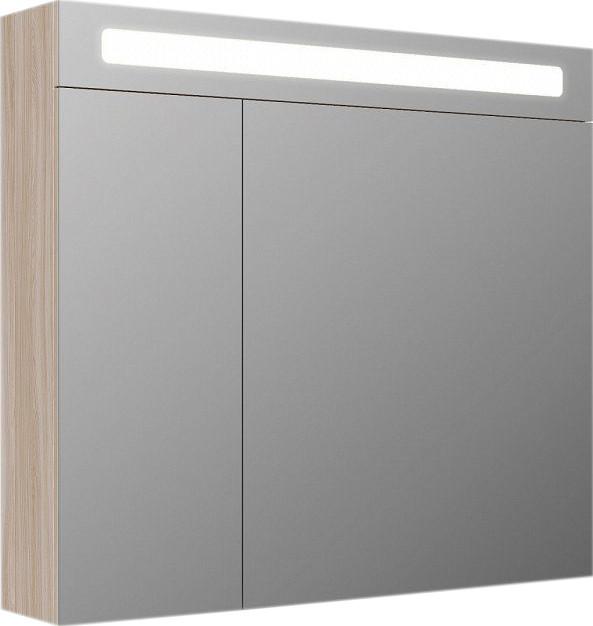 Зеркальный шкаф 80х70 см ясень шимо R IDDIS
