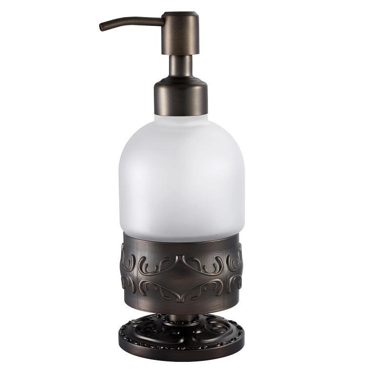 Дозатор жидкого мыла настольный Hayta Antic Brass 13916/VBR