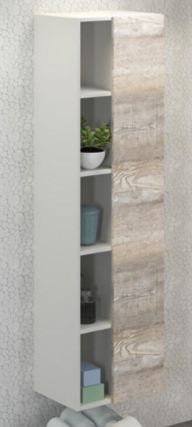 Колонна подвесная дуб бежевый/белый матовый Comforty Турин 00004136455 цена