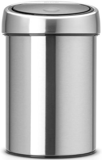 Мусорное ведро 3л с защитой от отпечатков пальцев Brabantia Touch Bin 378645 фото