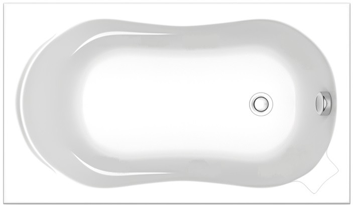 Акриловая ванна 120х70 см Bas Кэмерон ZB00018 акриловая ванна 120х70 см bas кэмерон b00018
