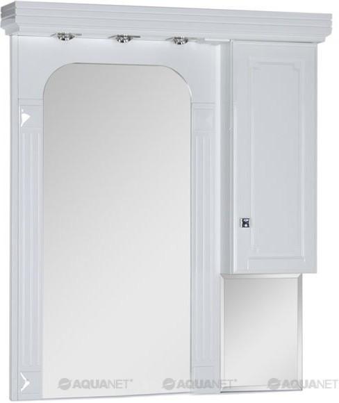 Зеркальный шкаф 106х122,4 см белый Aquanet Фредерика 00171272 зеркальный шкаф 65х88 1 см белый aquanet стайл 00179922