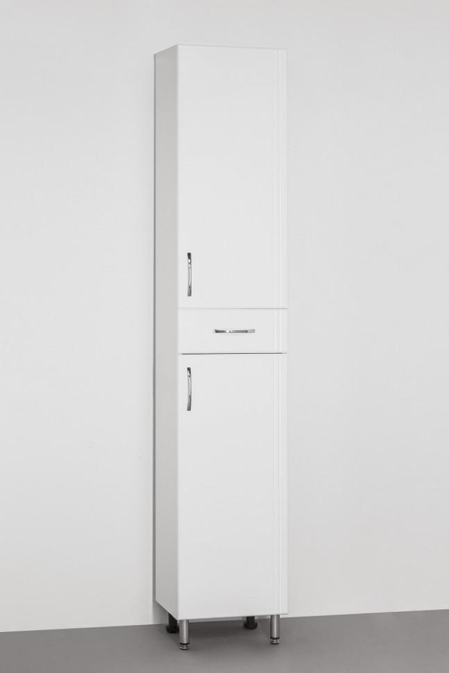 Пенал напольный белый глянец Style Line Эко Стандарт LC-00000112 шкаф пенал style line эко стандарт 36 с бельевой корзиной белый глянец