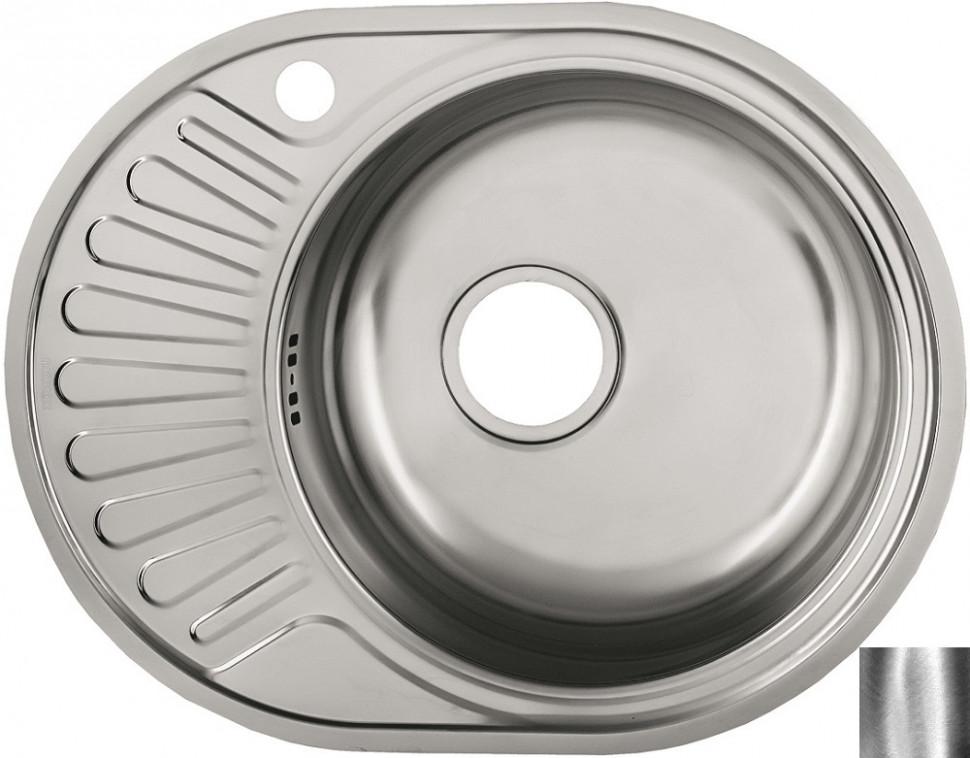 Кухонная мойка полированная сталь Ukinox Фаворит FAP577.447 -GT6K 1R кухонная мойка ukinox fap 770 480 gt6k 2l