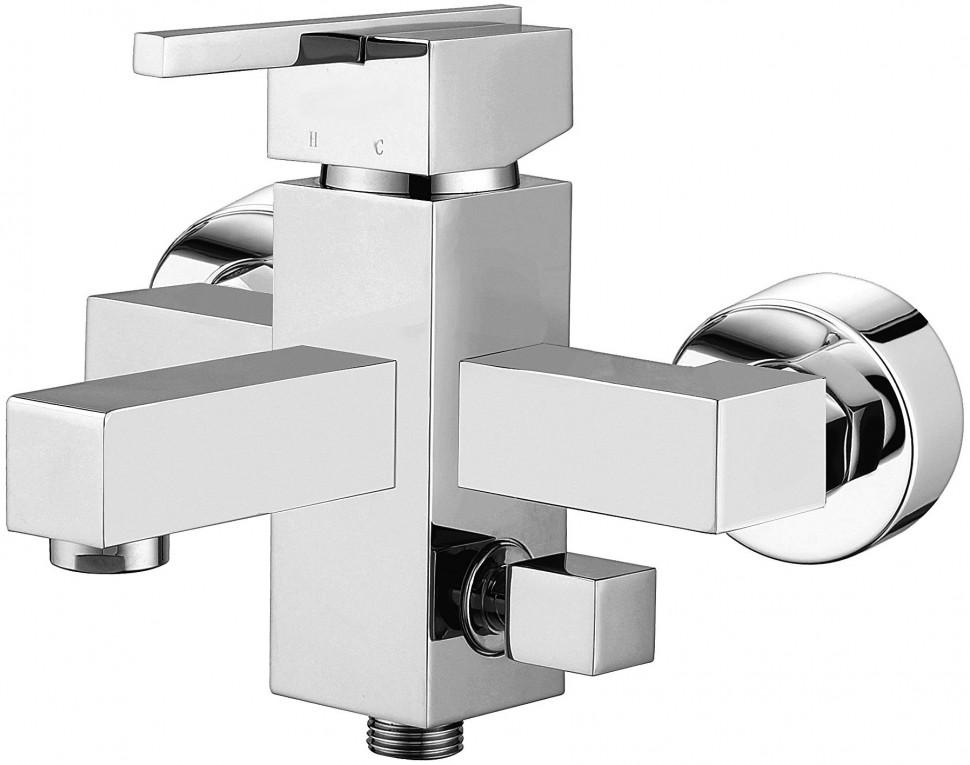 Смеситель для ванны Elghansa Kubus 23A9741 смеситель для ванны коллекция termo 6700857 однорычажный хром elghansa эльганза