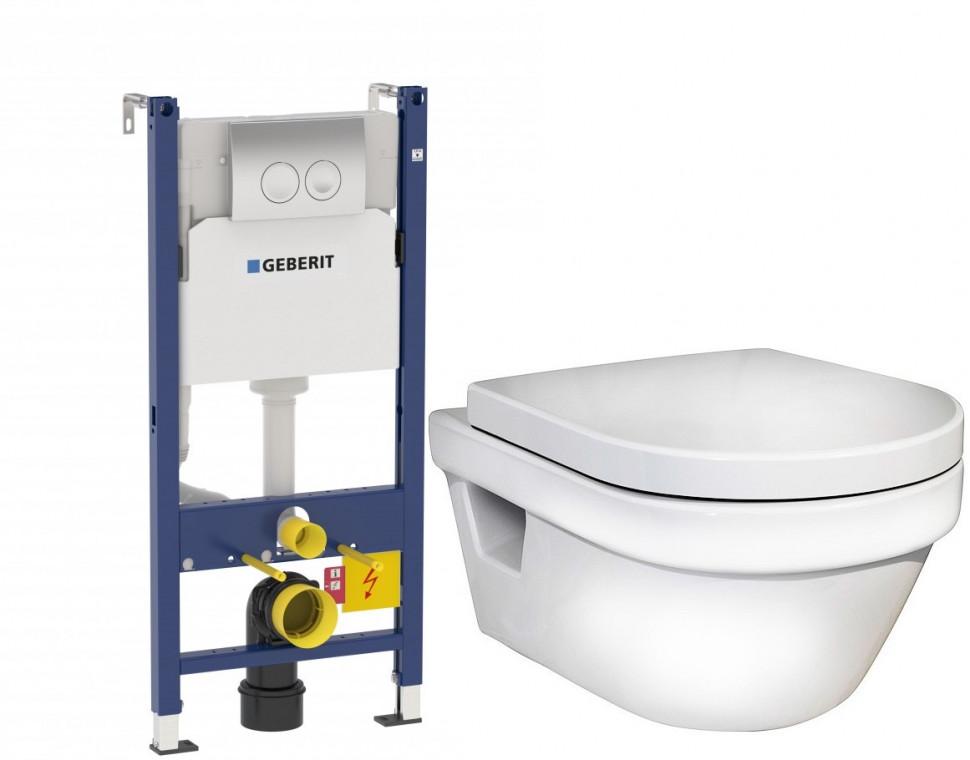 Комплект Gustavsberg Hygienic Flush 458.124.21.1+5G84HR01 комплект gustavsberg viega с унитазом gustavsberg hygienic flush wws безободковый с сиденье микролифт