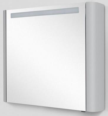 Зеркальный шкаф 80х70 см серый шелк глянец L Am.Pm Sensation M30MCL0801FG