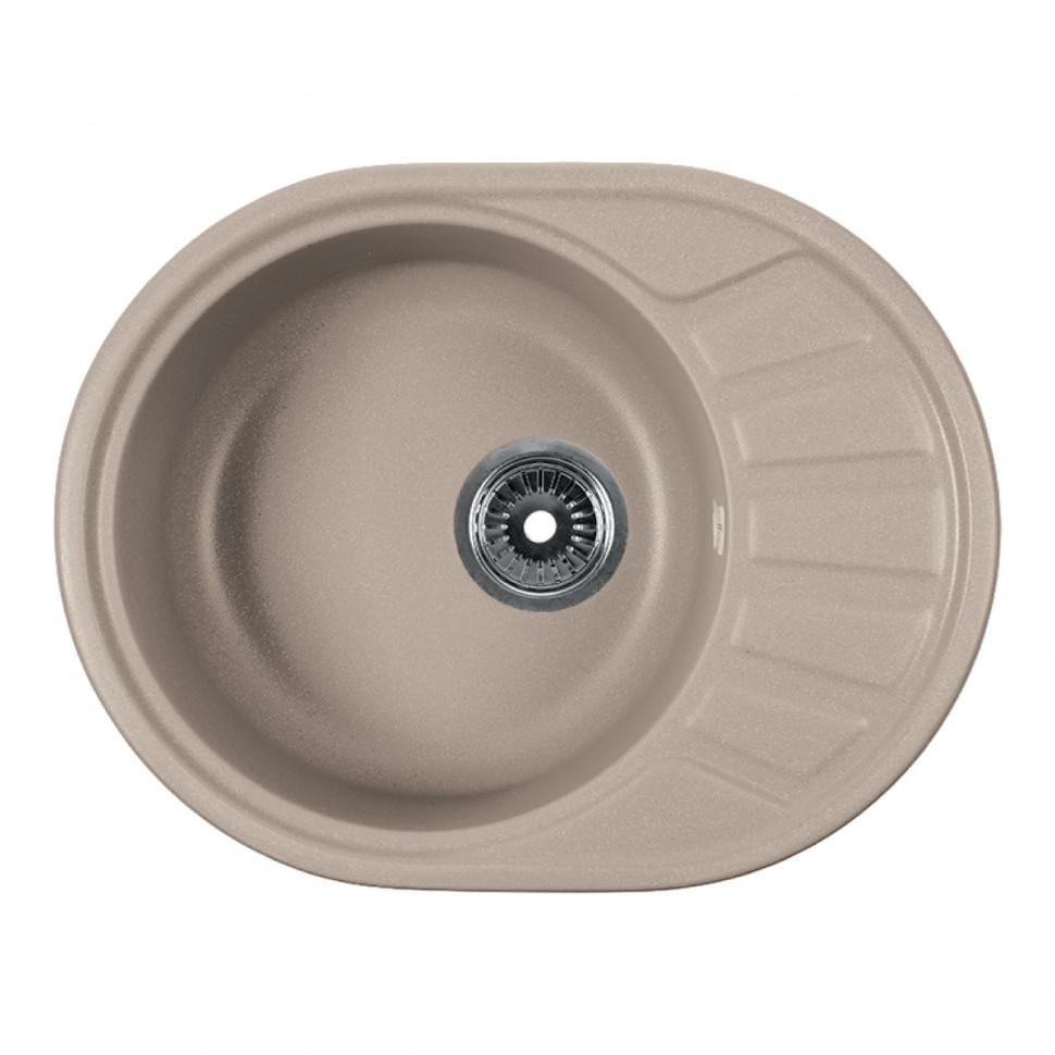 Кухонная мойка бежевый Rossinka RS58-45RW-Beige-Granite кухонная мойка бежевый rossinka rs51r beige granite