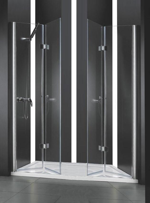 Душевая дверь складная Cezares Elena 173 см прозрачное стекло ELENA-W-BS-22-180-C-Cr фото