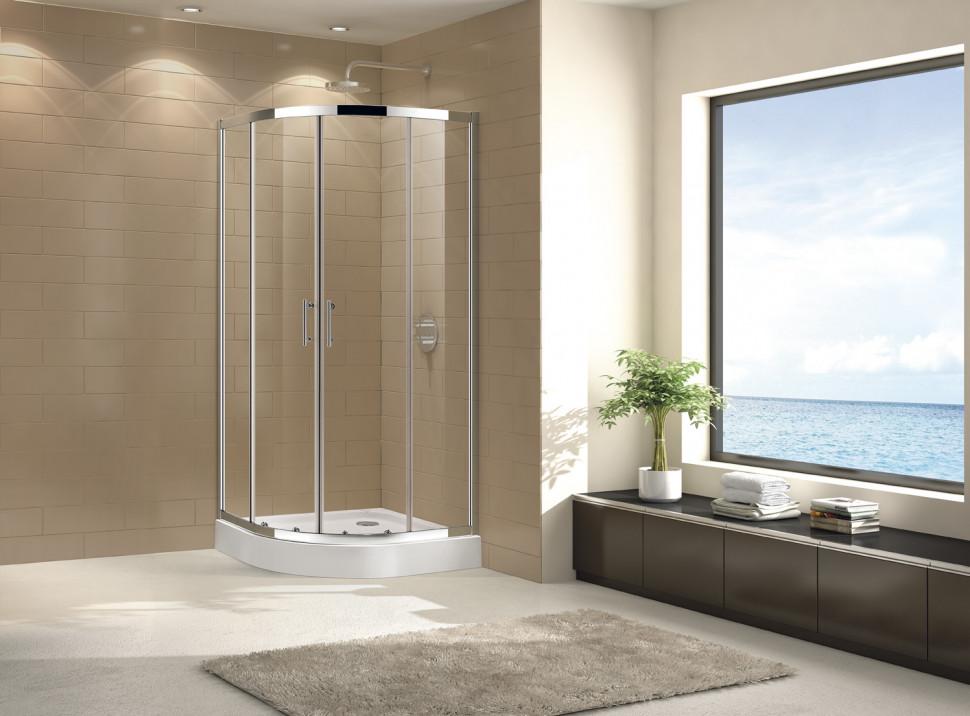 Душевой уголок Cezares Eco 80x80 см прозрачное стекло ECO-O-R-2-80-C-Cr o me r air xii 80