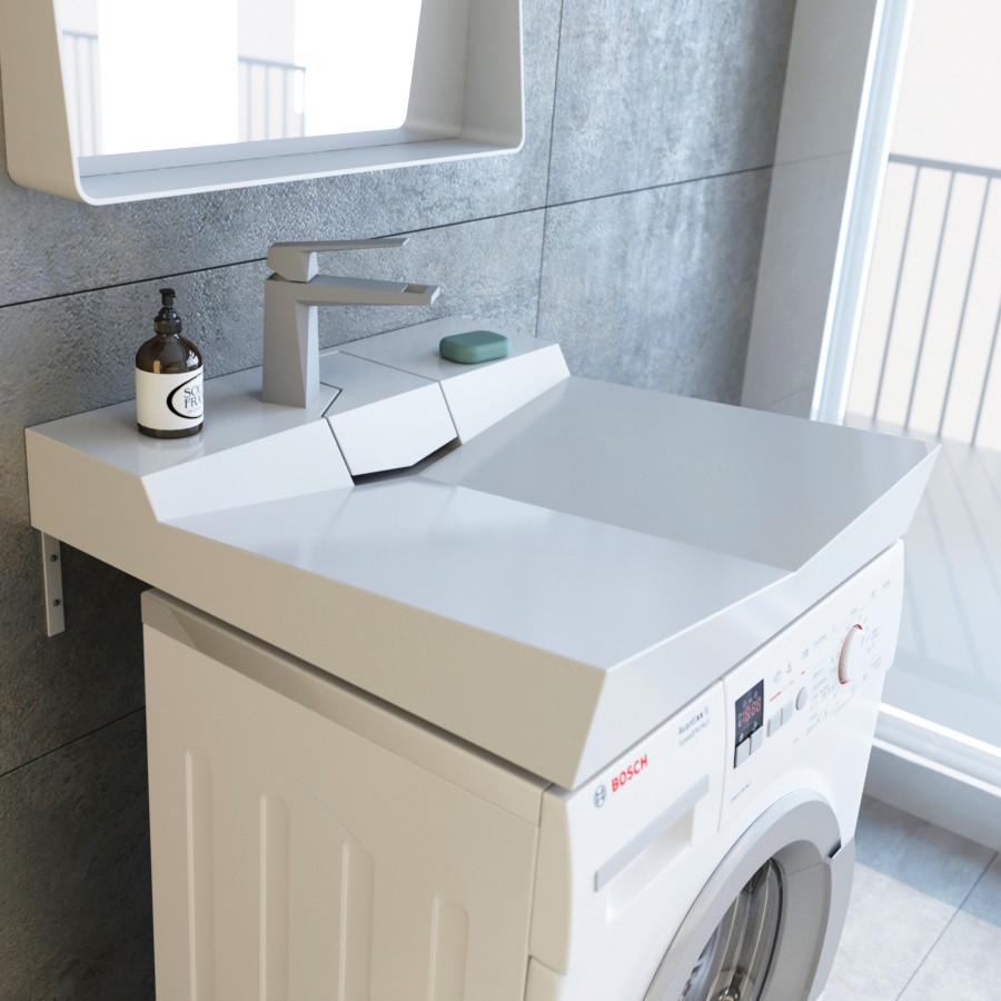 Раковина над стиральной машиной 60,9х60,4 см Andrea Onyx 4680028070504