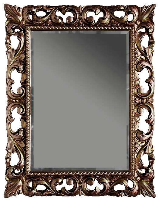 Зеркало 75х95 см состаренное серебро Tiffany World TW03427arg.antico фото