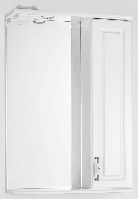 Фото - Зеркальный шкаф 55х83 см белый глянец Style Line Олеандр-2 LC-00000049 зеркальный шкаф 75х83 см белый глянец style line олеандр 2 lc 00000051