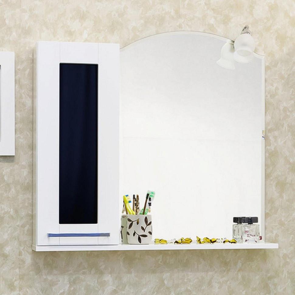 Зеркальный шкаф 60,4х76 см белый L Sanflor Валлетта H0000000086 раскладушка olsa валлетта с816