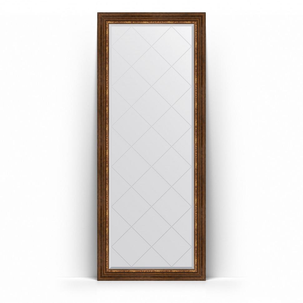 Фото - Зеркало напольное 81х201 см римская бронза Evoform Exclusive-G Floor BY 6319 зеркало напольное 81х201 см чеканка золотая evoform definite floor by 6008