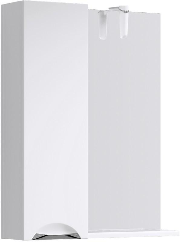 Зеркальный шкаф 65х82 см с подсветкой Aqwella Line Li.02.06 зеркальный шкаф bellezza миа 85 с подсветкой l белый