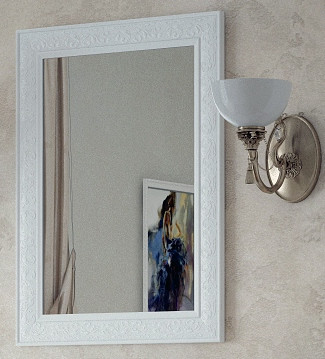 Зеркало 60х80 см белый глянец Corozo Классика SD-00000270 фото