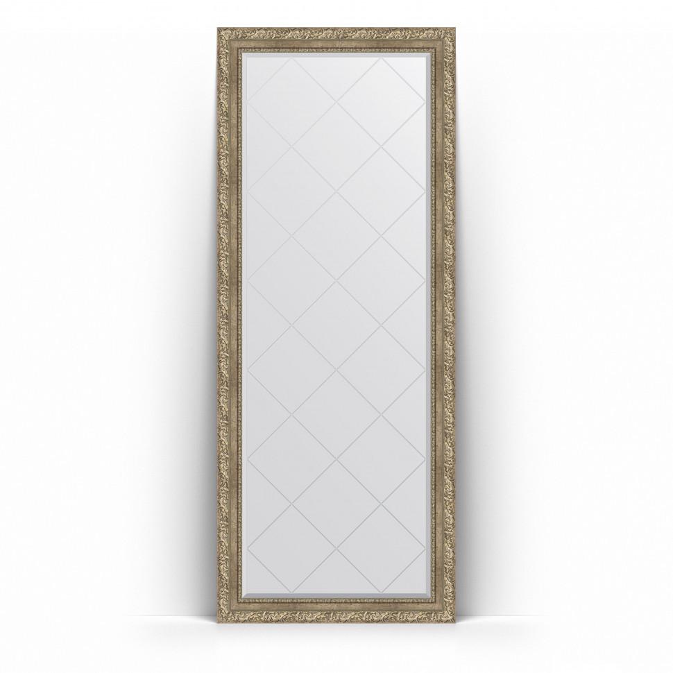 Зеркало напольное 80х200 см виньетка античное серебро Evoform Exclusive-G Floor BY 6313 зеркало evoform exclusive g 72х55 виньетка античное серебро