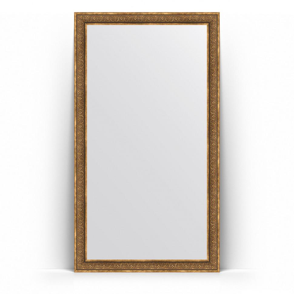 Зеркало напольное 114х204 см вензель бронзовый Evoform Definite Floor BY 6035 зеркало evoform definite 153х63 вензель бронзовый