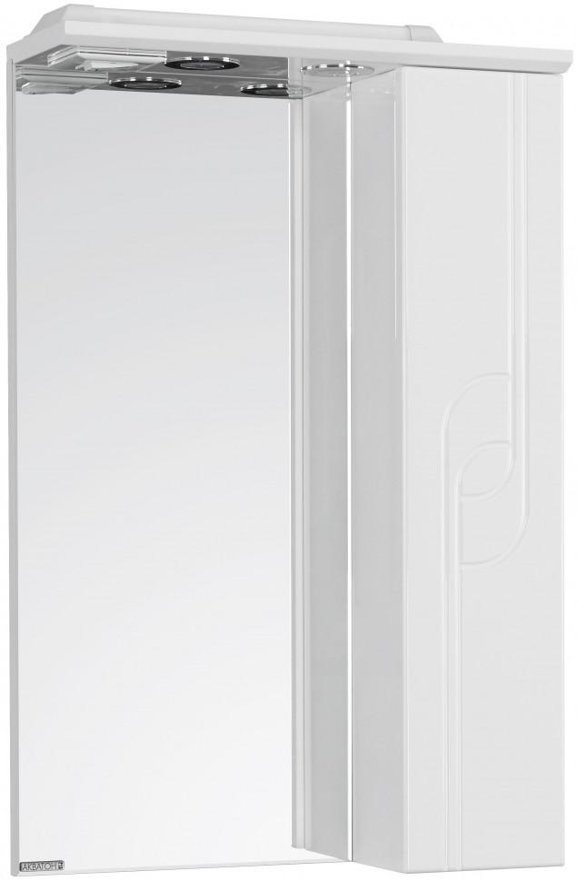 Зеркальный шкаф 50х79,8 см белый глянец R Акватон Панда 1A007402PD01R зеркальный шкаф 65х85 см белый глянец r акватон домус 1a166202ll01r