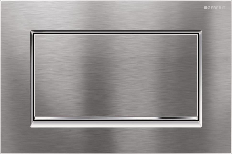 Смывная клавиша Geberit Sigma30 матовый хром/глянцевый хром/матовый хром для одинарного смыва 115.893.KX.1 цена и фото