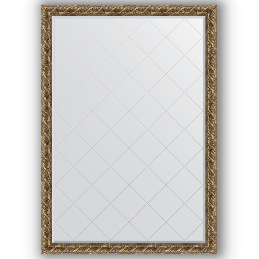Зеркало 130х184 см фреска Evoform Exclusive-G BY 4485 зеркало evoform exclusive g 185х131 фреска