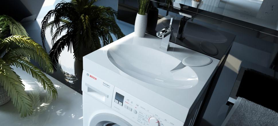 Раковина над стиральной машиной 59,8х54,5 см Andrea Comfort 4680028070337