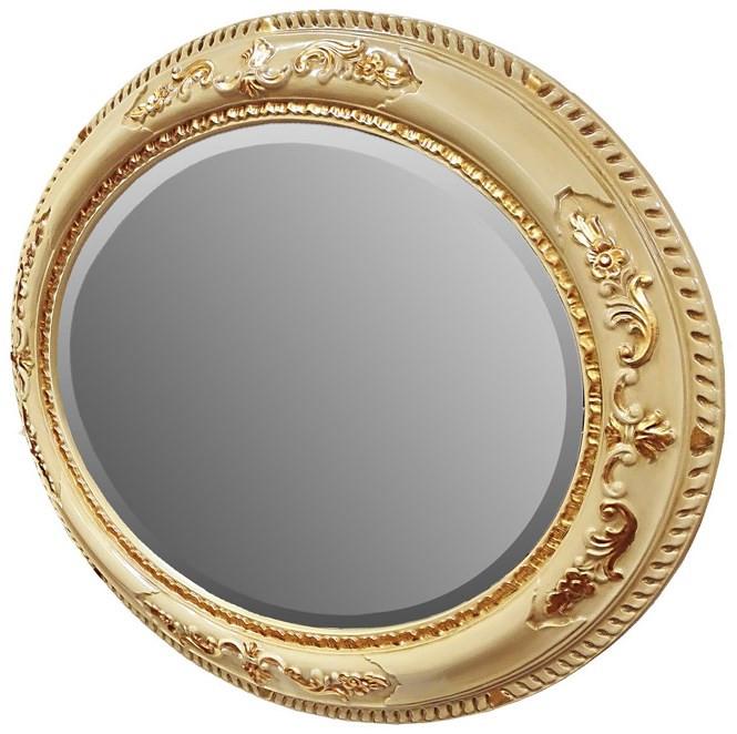 Зеркало 81х101 см слоновая кость/золото Tiffany World TW03529avorio/oro цена 2017