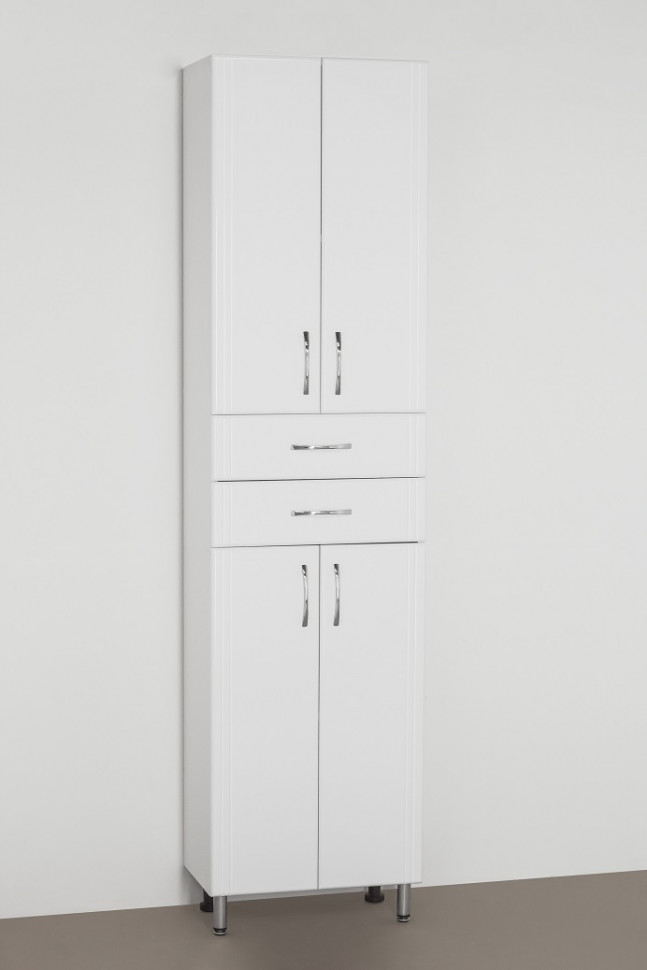 цена Пенал напольный белый глянец Style Line Эко Стандарт LC-00000379 онлайн в 2017 году