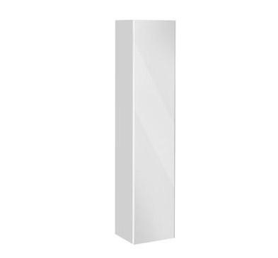 Пенал левосторонний с корзиной белый глянец/белое стекло KEUCO Royal Reflex 34031210001 keuco шкаф пенал keuco elegance new белый r с корзиной